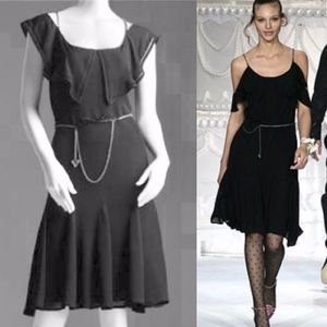 Viktor & Rolf x H&M Black Silk Ruffle Dress Chain